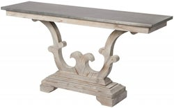 Asbury Reclaimed Pine Zinc Top Console Table