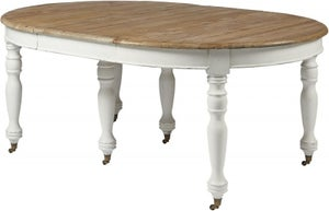 Asbury White Painted Oval Extending Dining Table