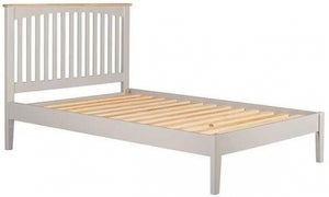 Lowell Oak and Grey Painted 4ft 6in Double Bed