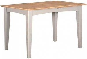 Lowell Oak and Grey Painted 120cm-165cm Extending Dining Table