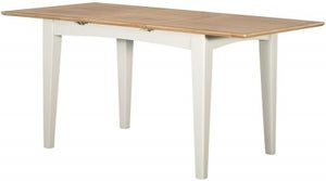 Lowell Oak and White Painted 120cm-165cm Extending Dining Table