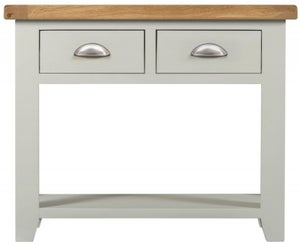 Lundy Oak and Grey Painted 2 Drawer Console Table