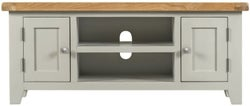 Lundy Oak and Grey Painted 2 Door TV Unit