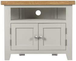 Lundy Oak and Grey Painted Corner TV Unit