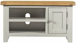 Lundy Oak and Grey Painted Small TV Unit