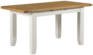 Lundy Oak and White 120cm-150cm Extending Dining Table