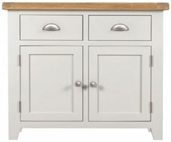 Lundy Oak and White 2 Door 2 Drawer Sideboard
