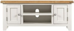 Lundy Oak and White 2 Door TV Unit