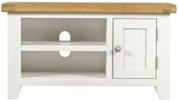 Lundy Oak and White Small TV Unit