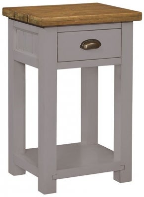 Regatta Grey Painted 1 Drawer Console Table