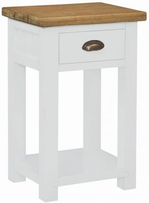Regatta White Painted 1 Drawer Console Table