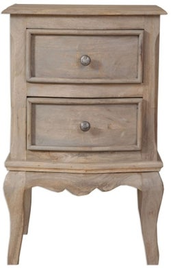 Calais Grey Washed French Style Bedside Cabinet