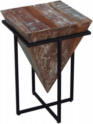 Modern Reclaimed Small Side Table - 438C