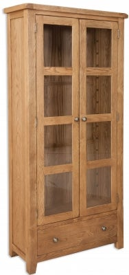 Perth Country Oak Display Cabinet