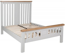 Perth Bed - Oak and French Grey Painted