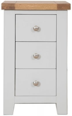 Perth Bedside Cabinet - Oak and French Grey Painted