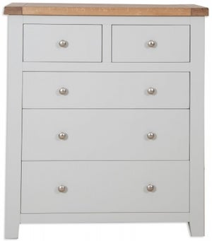 Perth 2+3 Drawer Chest - Oak and French Grey Painted