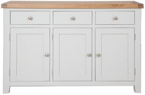 Perth Large Sideboard - Oak and French Grey Painted
