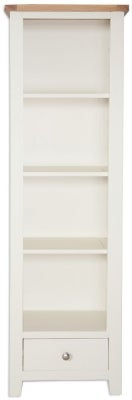 Perth Slim Bookcase - Oak and Ivory Painted