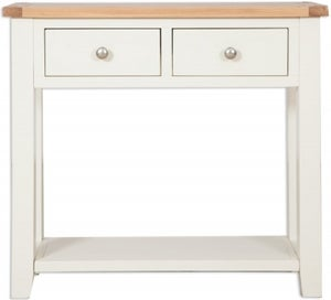 Perth Console Table - Oak and Ivory Painted