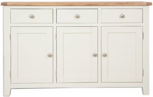 Perth Large Sideboard - Oak and Ivory Painted
