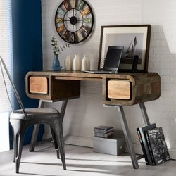 Indian Hub Aspen Iron and Wood Console Table