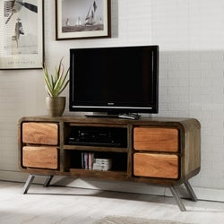 Indian Hub Aspen Iron and Wood TV Media Unit