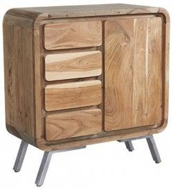Indian Hub Aspen Wood and Metal Sideboard