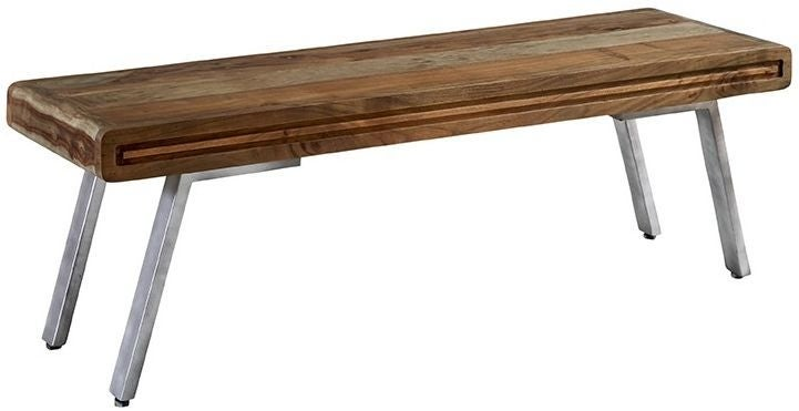 Indian Hub Aspen Iron and Wood Dining Bench