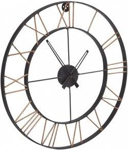 Indian Hub Lincoln Industrial Metal Clock