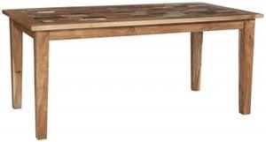 Indian Hub Coastal Reclaimed Wood Large Dining Table