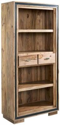 Indian Hub Jodhpur Sheesham Large Wide Bookcase