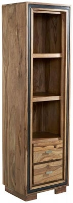 Indian Hub Jodhpur Sheesham Slim Bookcase