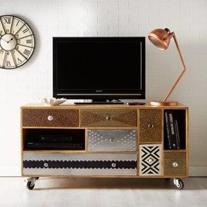 Indian Hub Sorio Multi Coloured TV Cabinet