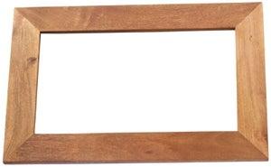 Indian Hub Toko Light Mango Solid Wood Frame Mirror - 90cm x 60cm