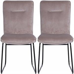 Indus Valley Stella Velvet Fabric Dining Chair (Pair)