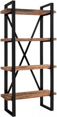 Indus Valley Phoenix Industrial Shelving Unit - Reclaimed Sleeper Wood and Iron