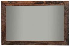 Indus Valley Railway Sleeper Industrial Rectangular Wall Mirror - Reclaimed Wood