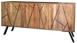 Jaipur Amar Wide Sideboard - Mango Wood and Iron