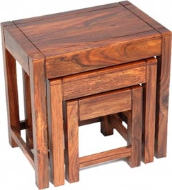 Jaipur Cadiz Sheesham Wood Nest of 3 Tables