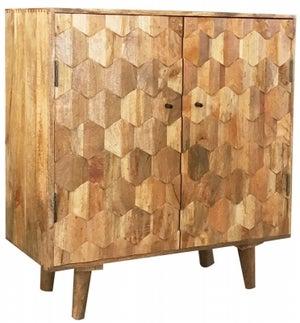 Jaipur Hexagonal Mango Wood Small Sideboard
