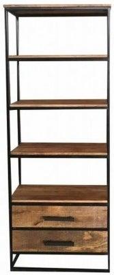 Jaipur Industrial Mango Wood and Iron Bookcase