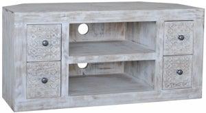 Jaipur Mandakini Mango Wood Large Corner TV Unit