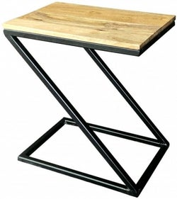 Jaipur Ravi Black Small Side Table - Light Mango Wood and Iron