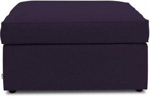 Jay-Be Footstool Airflow Fibre Mattress Bed - Aubergine Fabric