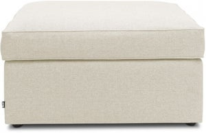 Jay-Be Footstool Airflow Fibre Mattress Bed - Cream Fabric