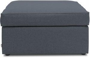 Jay-Be Footstool Airflow Fibre Mattress Bed - Denim Fabric