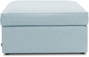 Jay-Be Footstool Airflow Fibre Mattress Bed - Duck Egg Fabric