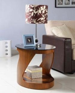 Jual Curve Walnut Lamp Table JF304