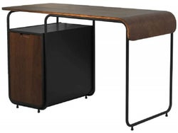Jual Manhattan Walnut Cabinet Tube Desk PC203